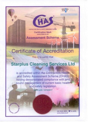 Good News we are CHAS Accreditted Contractors now