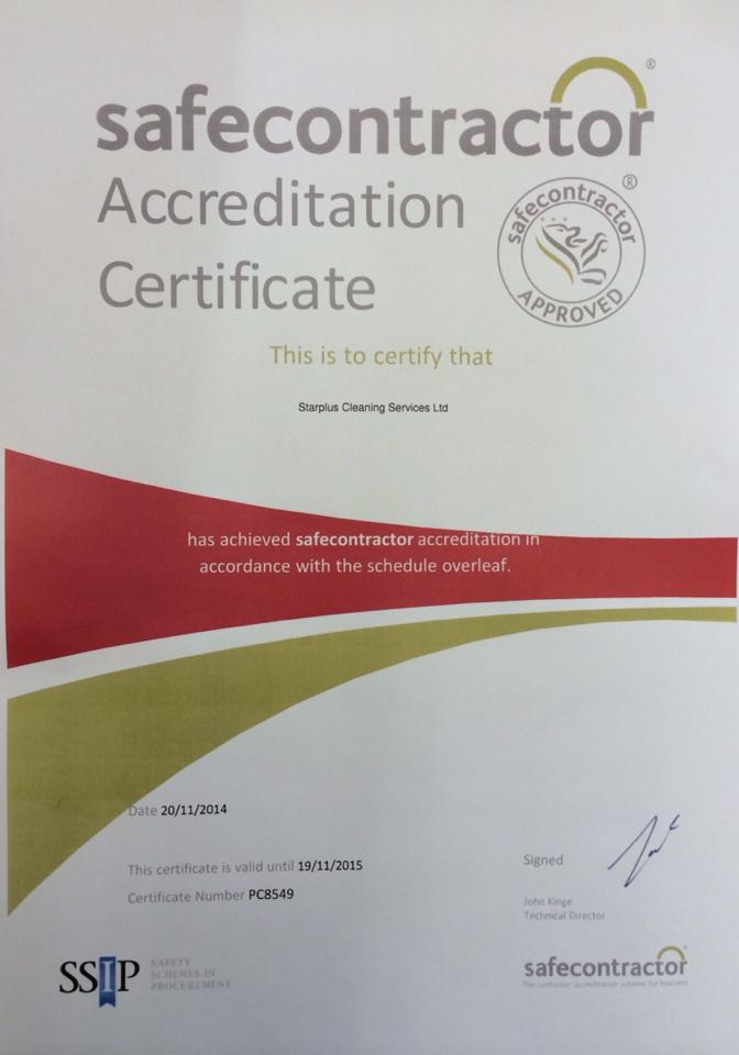 Safecontractor accreditation